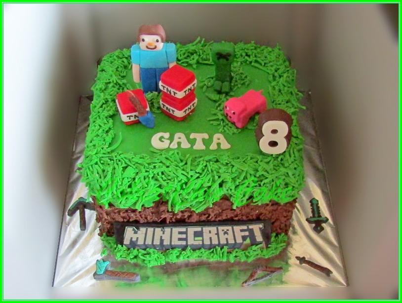 Cake Minecraft GATA 15cm