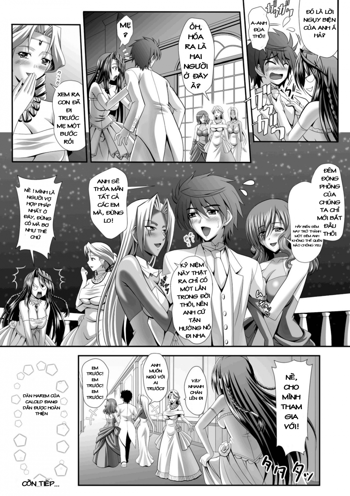 HentaiVN.net - Ảnh 28 - Hạnh phúc với dàn Harem - Harem Wedding The Sweet Honeymoon, ハーレムウェディング The Sweet Honeymoon - Chapter 1