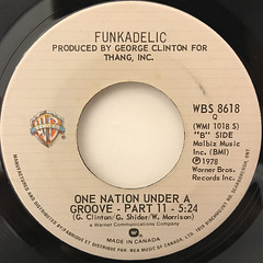 FUNKADELIC: ONE NATION UNDER A GROOVE(LABEL SIDE-B)