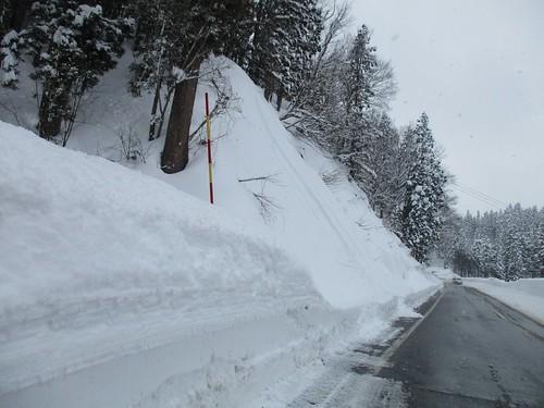 積雪量がさらに増す。
