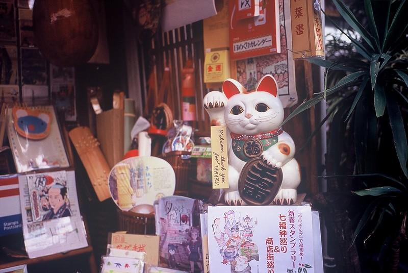 KONICA HEXAR RF+Voigtlander Color Scopar 35mm f2.5谷中銀座招き猫
