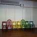 colorful little chairs by wwnorm