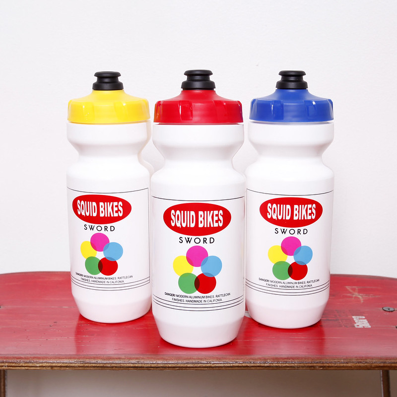 Squid Bikes / Rattlecan Bottle / Various colors / 22oz