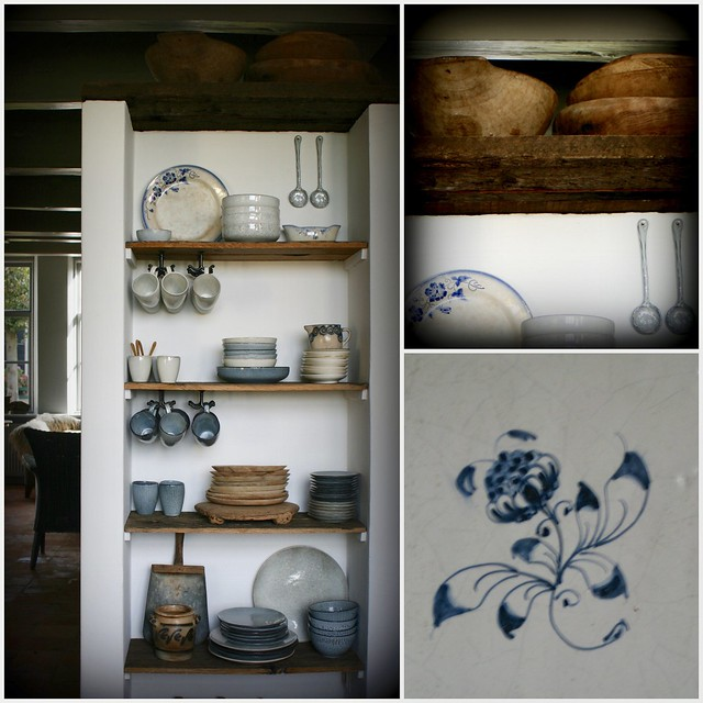 Kommen en planken keukenkast