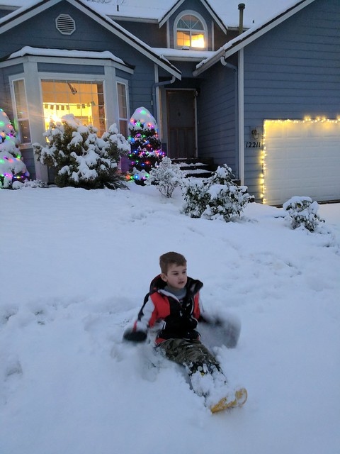 Christmas Day Snow Play