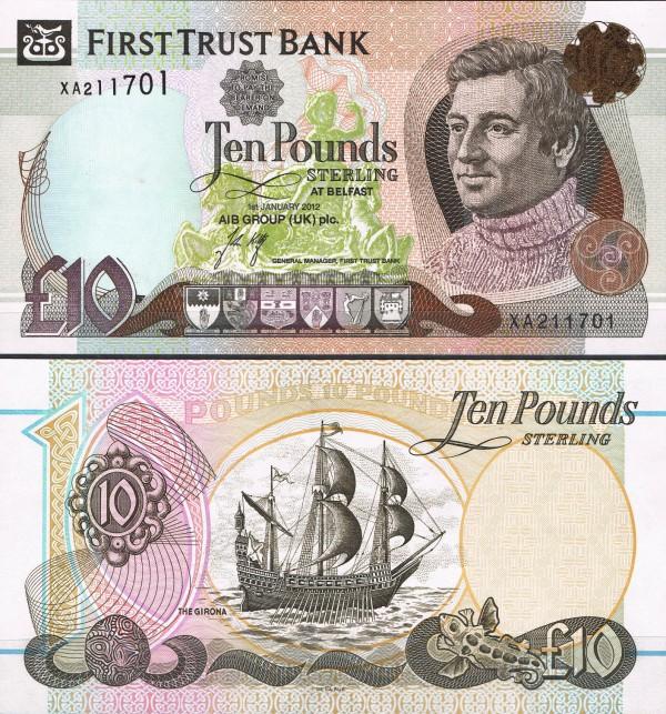 10 Libier Severné Írsko 2012, P136b First Trust Bank