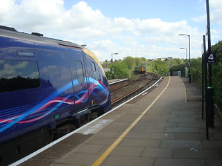 First Great Western class 180 and London Midland class 172 units at Worcester Foregate Street station