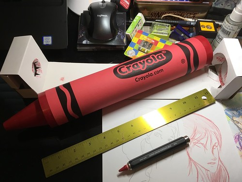 #Crayola Special Edition Giant Red Crayon (over one foot long!)
