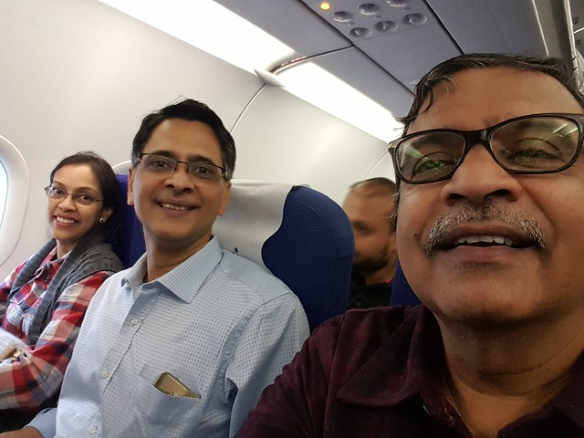 On the flight from Pune to Delhi and onwards to Amritsar