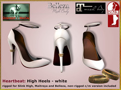Bliensen - Heartbeat - High Heels - white