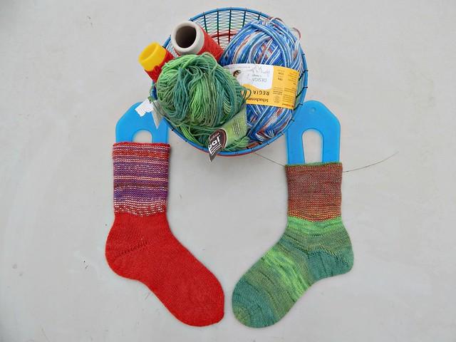 носки с пяткой углублённым бумерангом с клином | short row heel with gusset socks