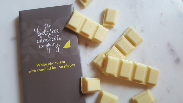 The Belgian Chocolate Company White Chocolate with candied lemon pieces