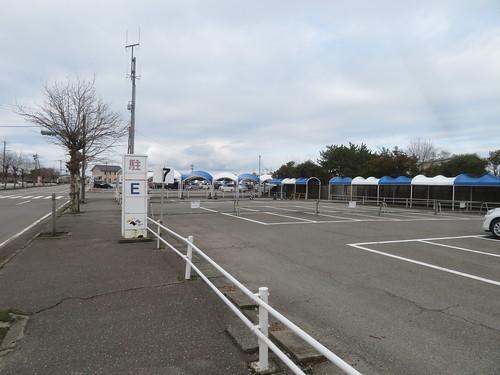 金沢競馬場のE駐車場