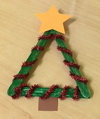 Popsicle Stick Chrismas Trees 3