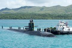USS Key West (SSN 722) returns to Naval Base Guam, Dec. 15. (U.S. Navy/CSSN Jonathan Perez)