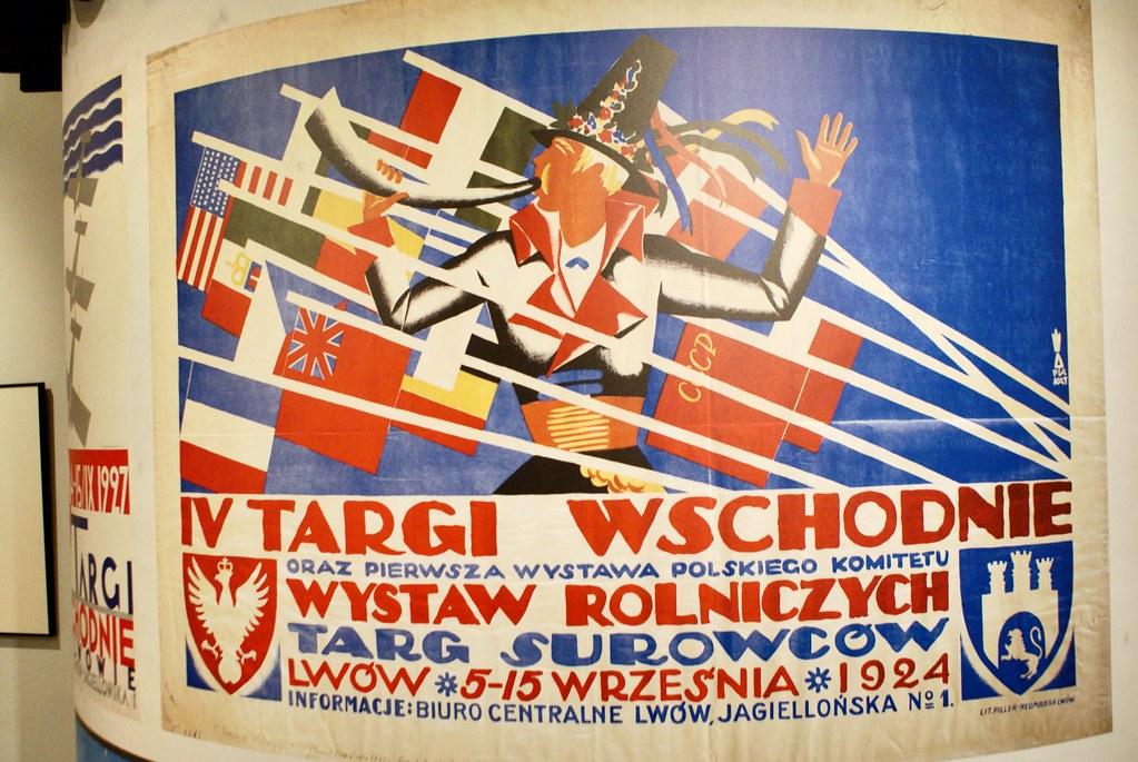 Affiche pour la foire internationale de Lwow en 1924 - Expo sur le modernisme à Lwow au MCK à Cracovie.