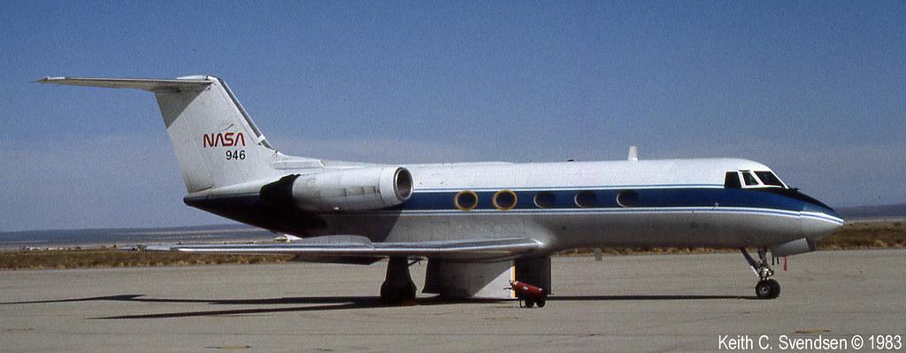 Gulfstream II nasa N946NA KEDW 19830729 25cr