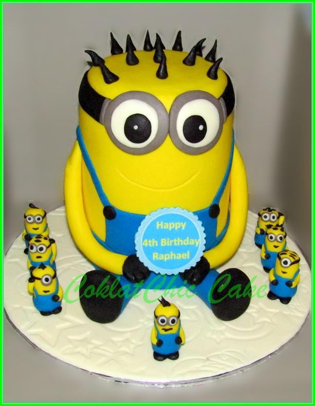 Cake Minions RAPHAEL 12cm 3 set
