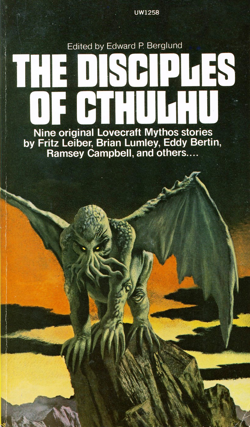 "Karel Thole - Cover for ""The  Disciples of Cthulhu"" 1974"