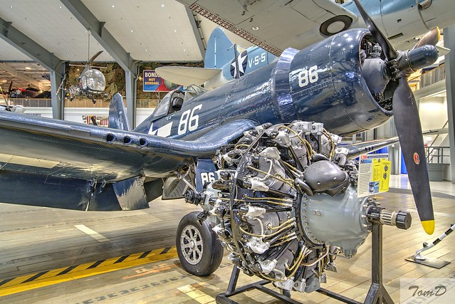 US F4 Corsair and the motor that powered it.