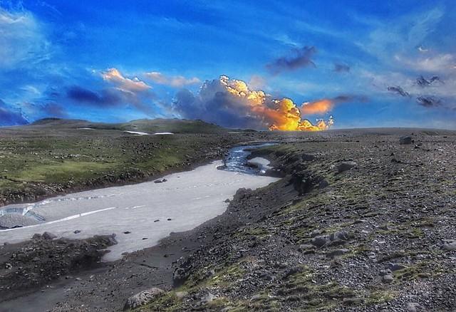 Iceland ~ Landmannalaugar Route ~  Ultramarathon is held on the route each July