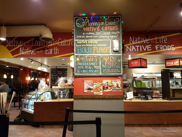 Natives Food Cafe interior
