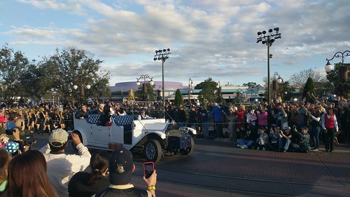 Hitt, White, and Mickey at the 2018 UCF Disney Parade