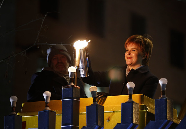Scottish National #Chanukah celebration