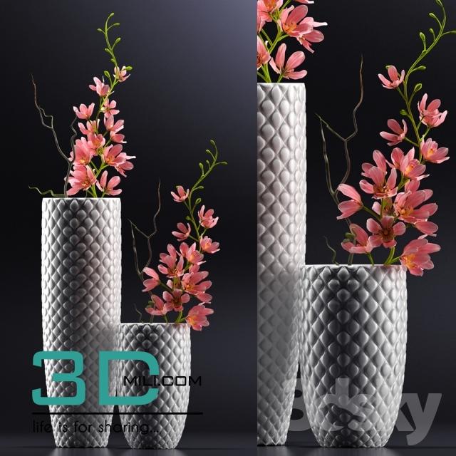 256 Vase Decor 3dmili Model 256 Free Download 3d Mili Download