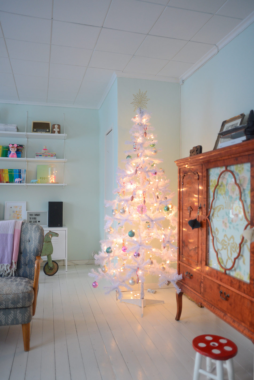 Pastel colored Christmas