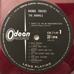 THE ANIMALS:ANIMAL TRACKS(LABEL SIDE-A)