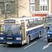 Harris Bus, West Thurrock: D304PEV races a Transit van in Crown Road, Grays on Route 375