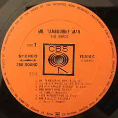 THE BYRDS:MR. TAMBOURINE MAN(LABEL SIDE-A)