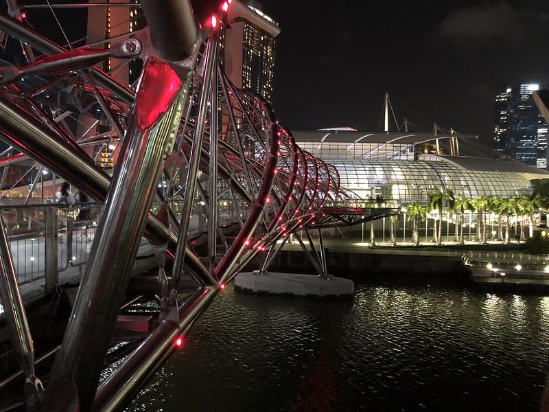 Helix Bridge   Night Layover in Singapore