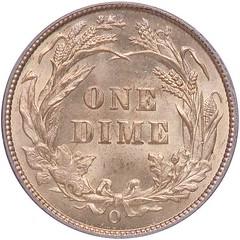 1895-O Barber Dime reverse