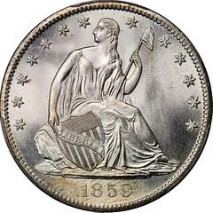 1859-S Seated Half