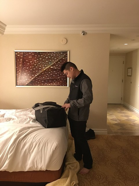 Nyke,  getting ready for the airport