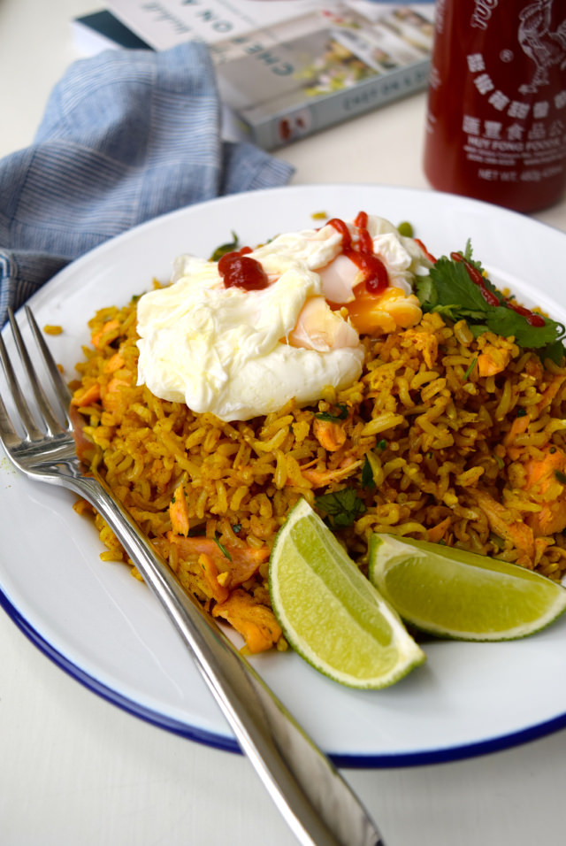 Easy Coconut Kedgeree #dinner #coconut #salmon #weeknight #healthy