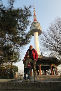 Alan and Dave at North Seoul Tower