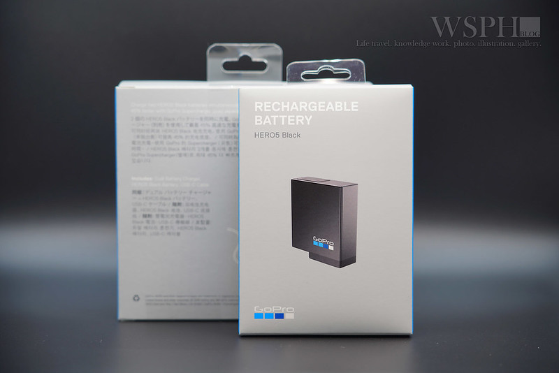 GOPRO 5/6 BATTERY CHARGER + BATTERY UNBOX
