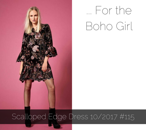 Scalloped Edge Dress
