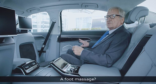 Giving A Foot Massage Is One Way To Promote The New Audi A8