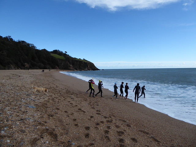 Swimmers at Blackpool Sands