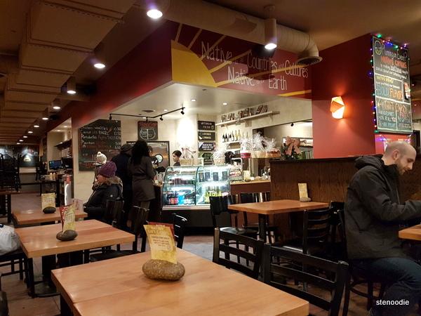 Natives Foods Cafe interior