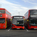 DMS1868 (GHM868N), Sullivan Buses AE23 (LS66SUL) and E76 (RC17SUL)