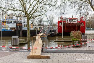 Hochwasser Biebricher Rheinufer & Schiersteiner Hafen 07.01.18