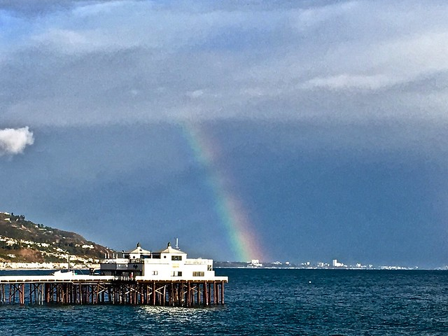 after the rain and the malibu pier
