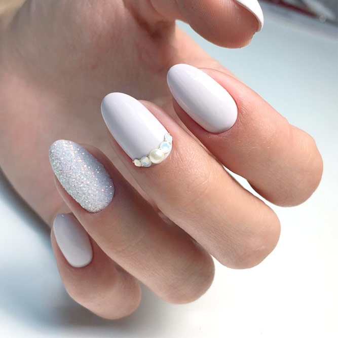 54+ Best White Acrylic Nails Designs - Fashion 2D