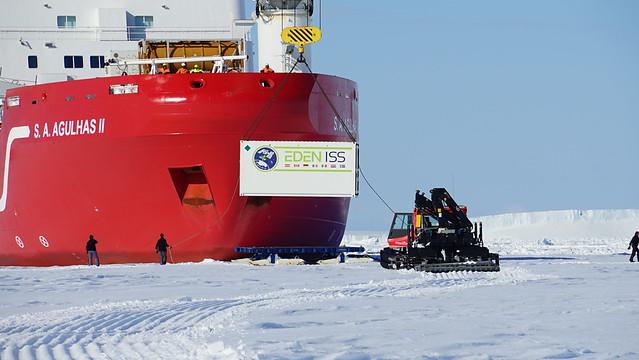 Ankunft in der Antarktis