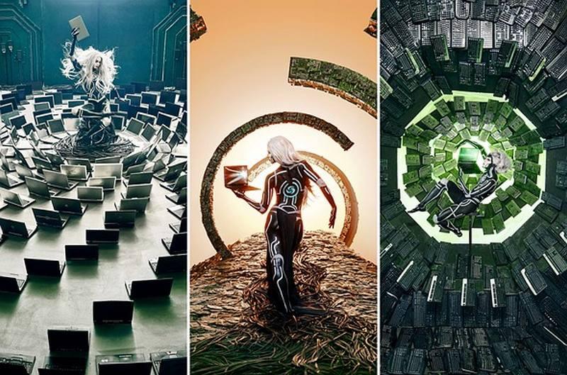 Von Wong a utilisé 1 800 kg de déchets électroniques pour créer ces portraits futuristes